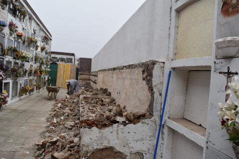 Obras en el cementerio de La Esperanza