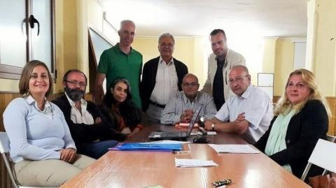 Firma del Pacto de Gobierno en Santa Brigida en 2015