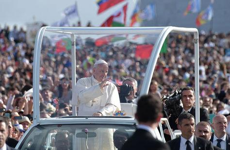 El Papa Francisco de visita en Fátima, Portugal