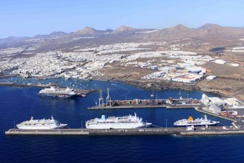 Vista aérea del Puerto de Arrecife