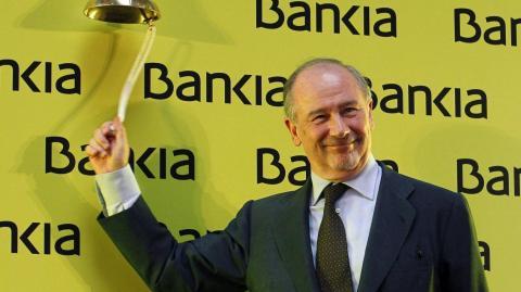 Rodrigo Rato a la salida de Bankia en bolsa