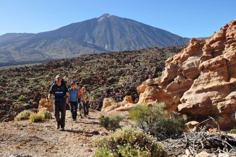Senderistas en Tenerife