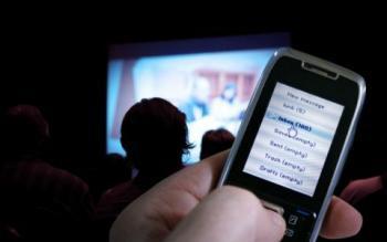 Teléfono en el cine