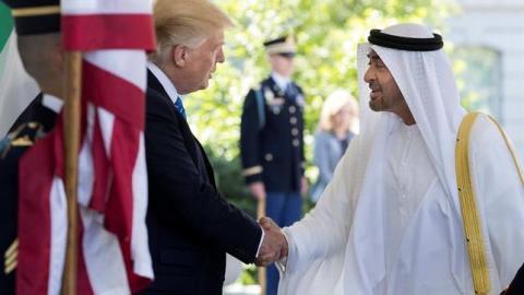 Donadl Trump y el heredero de Emiratos Árabes Unidos