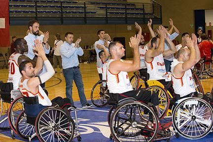 Jugadores de la selección española de baloncesto en silla de ruedas