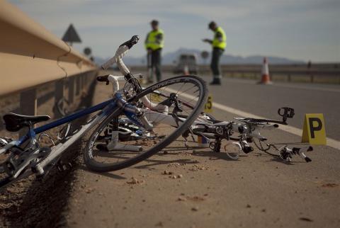 Accidente de un ciclista