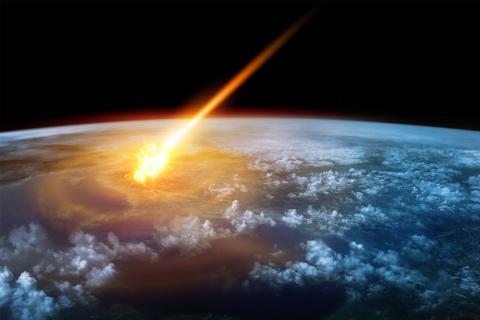 Asteroide acercándose a la Tierra