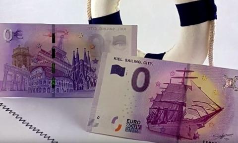 Dos billetes de cero euros