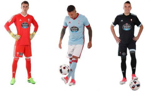 Las tres equipaciones del Celta de Vigo