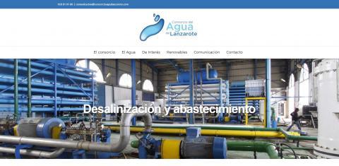 Web del Consorcio del Agua de LAnzarote