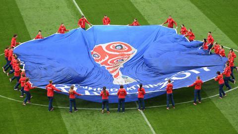 Bandera en la Copa Confederaciones