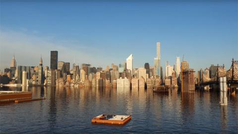 La ciudad de Nueva York Inundada