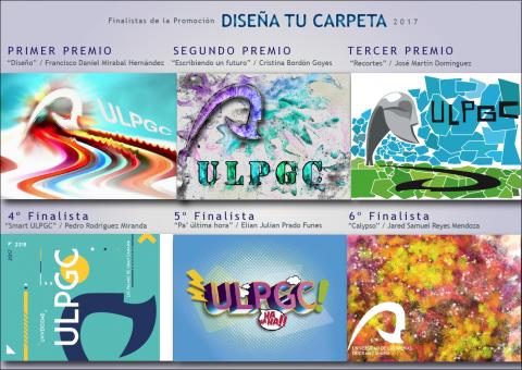 """Trabajos finalistas del Premio """"Diseña tu Carpeta"""" de la ULPGC"""