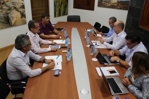 Reunión de Pedro Ortega con el Presidente del Cabildo de Fuerteventura, Marcial Morales