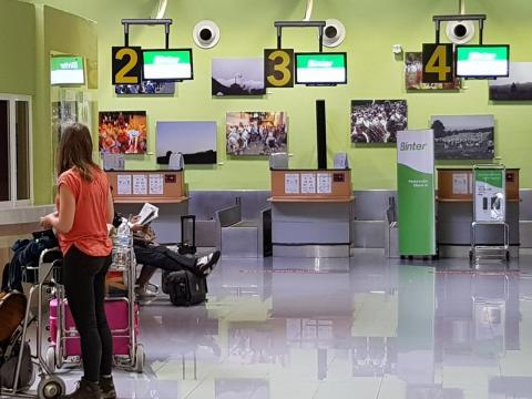Exposición en el Aeropuerto de El Hierro