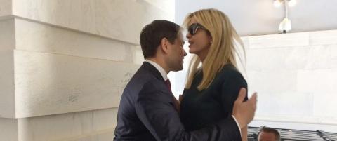 Ivanka Trump y Marco Rubio