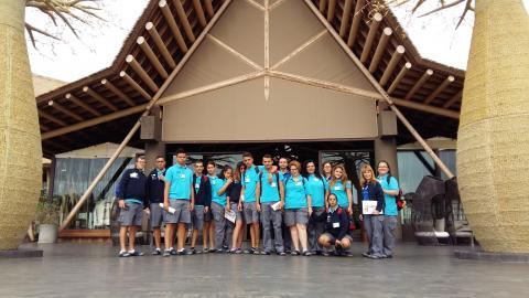 Alumnos del PFAE en el hotel Baobab