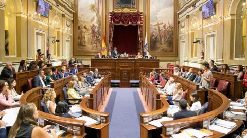 Interior del Parlamento de Canarias