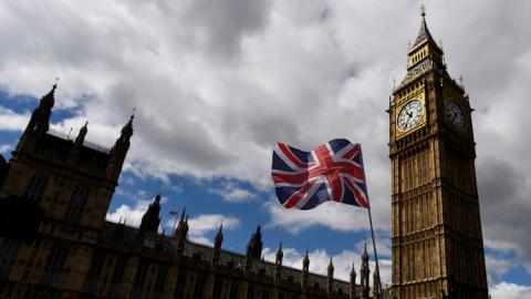 Fachada del Parlamento británico