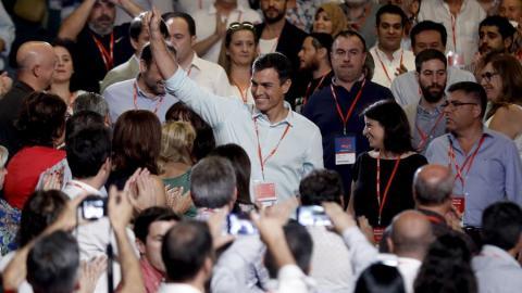 Pedro Sánchez a su llegada al 39 Congreso del PSOE