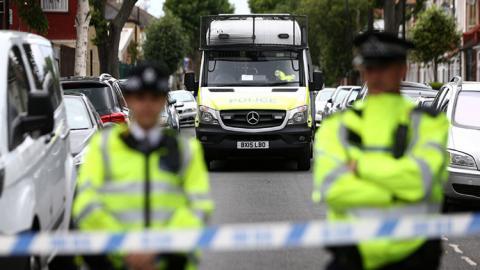 Dos policias en el Reino Unido