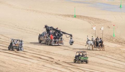 Rodaje de película en una playa de Fuerteventura
