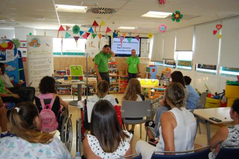 Taller con niños del Hospital Universitario de Canarias