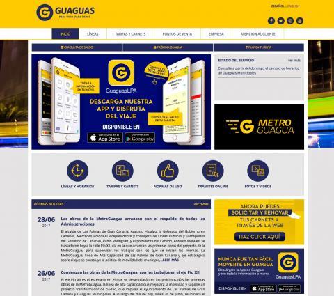 Web de Guaguas Municipales