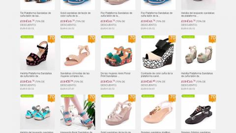 Catálogo de zapatos por internet