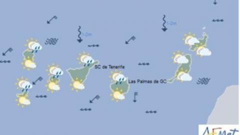 Mapa del tiempo de las islas Canarias