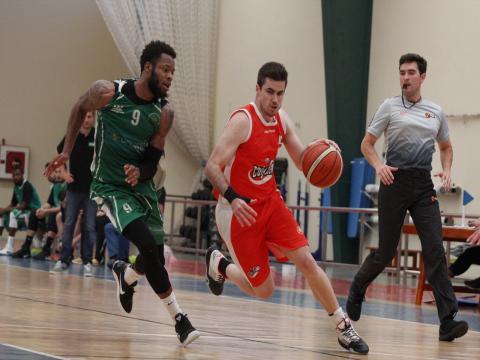 Jugadores de baloncesto del Aloe Plus Lanzarote Conejero