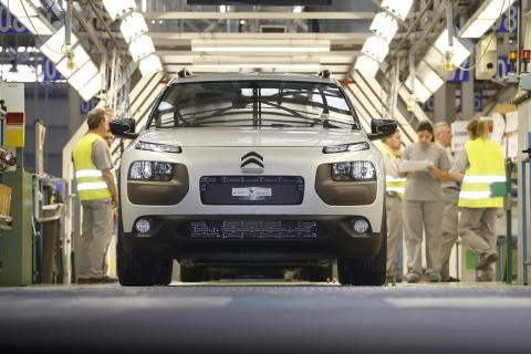 Un coche en la fábrica de Citroën