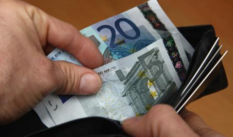 Billetes en un monedero