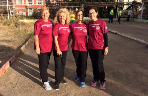 Equipo femenino de Bola Canaria