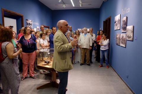 Gabriel Betancor en la exposición