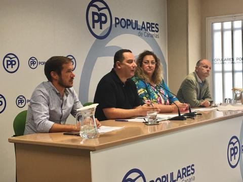 Poli Suárez, Mariano Hernández Zapata, Auxiliadora Pérez y Jorge Rodríguez