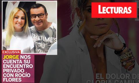 Rocío Flores y Jorge Javier Vázquez en una portada de la revista Lecturas