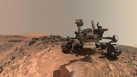 Un robot en Marte