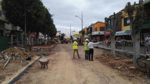 Obras en una calle