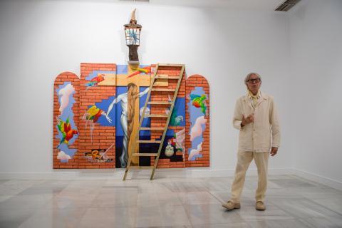 Pepe Dámaso en la exposición
