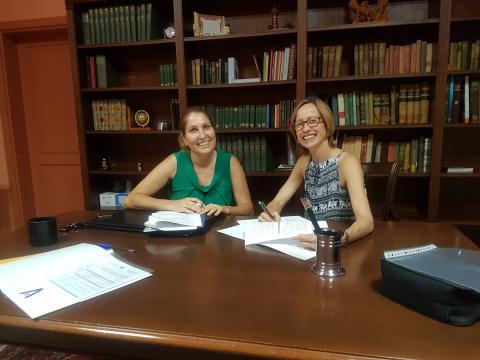 Elena Cabello y Thalia González