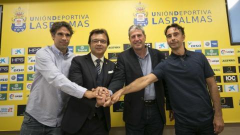 Juan Carlos Valerón, Manolo Márquez, Toni Cruz y Paquito Ortiz