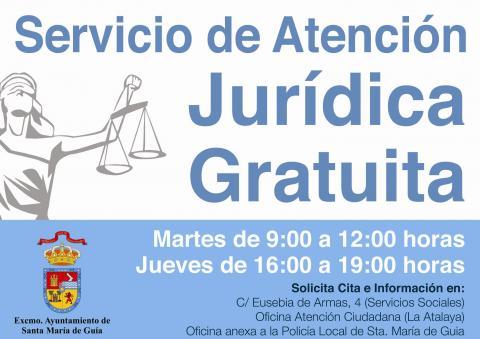 Cartel de servicio juridico gratuito