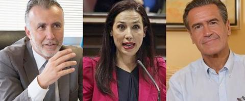 Ángel Víctor Torres, Patricia Hernández y Juan Fernando López Aguilar