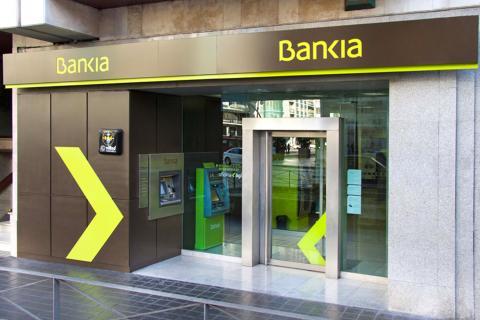 Fachada de oficina de Bankia