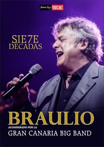 Cartel anunciado el concierto de Braulio