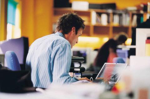 Trabajador en oficina