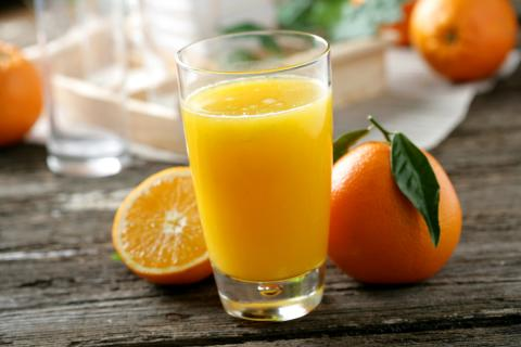 Un zumo de naranja