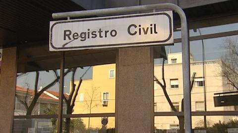 Cartel de Registro Civil