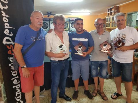 ganadores del torneo de dominó de Candelaria